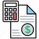 financial plan, microeconomics, business plan, budget, pricing tool icon