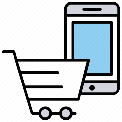 digital transaction, m commerce, mobile commerce, mobile payment, mobile shopping icon