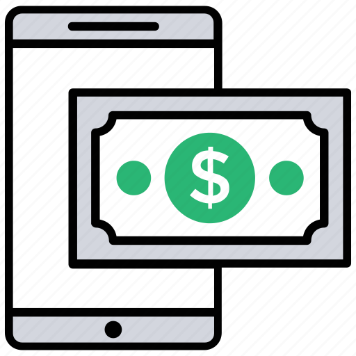 m-commerce, mobile finance, mobile money, mobile payment, mobile transaction icon