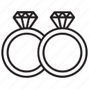 accessories, bands, diamond ring, jewellery, rings icon
