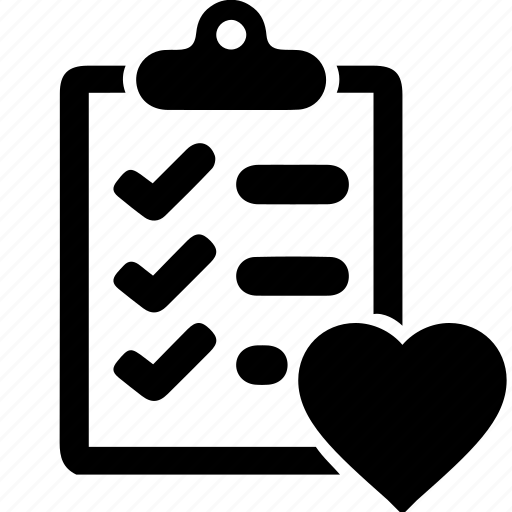 business, chebox, heart, information, list, market, shopping icon