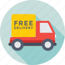 cargo, delivery, free delivery, free shipping, logistics icon