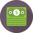 banknotes, currency, money, dollar, paper money icon