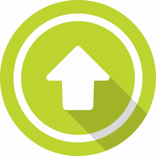 arrow, directional, outbox, upload, upward icon