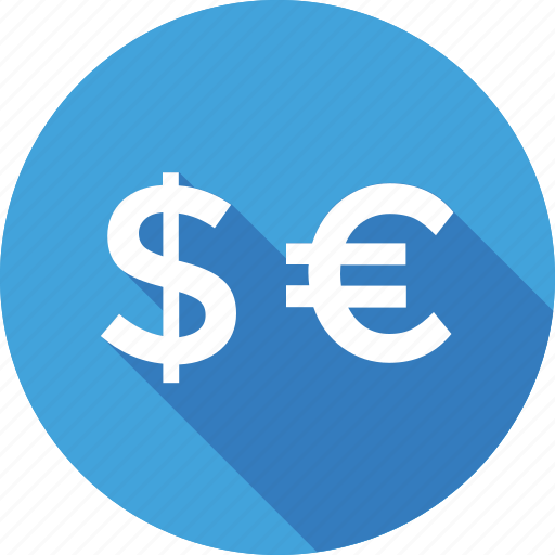 business, currency, dollar, euro, money icon