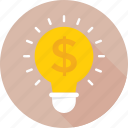 bulb, business idea, idea, invention, light icon