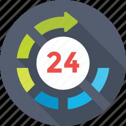 customer service, full service, helpline, hotline, twenty four hours icon