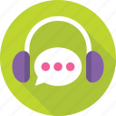 call center, chat bubble, customer service, headphones, helpline icon
