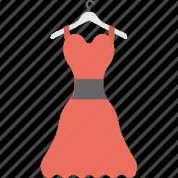casual dress, female clothing, hanger dress, party dress, sleeveless dress icon
