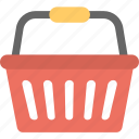 basket, grocery, hamper, hand basket, shopping basket icon