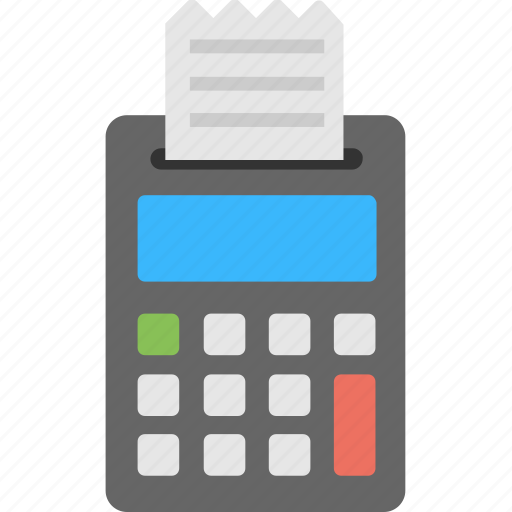 business calculator, calculation, calculator, expenses list, receipt calculator icon