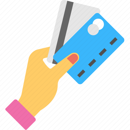 bank card, card payment, collect payment, hand holding card, payment icon