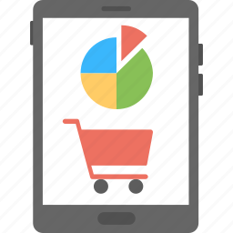 e-commerce audit, e-commerce graph, m-commerce graph, online sale graph, online shopping graph icon