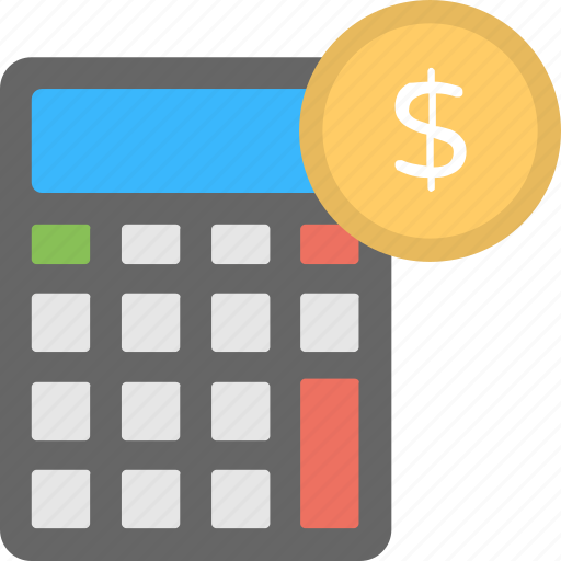 Calculating, calculator with money, counting money, financial accounting, financing icon - Download on Iconfinder