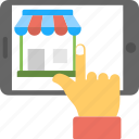 e-commerce, online shop, online shopping, online shopping website, online store icon