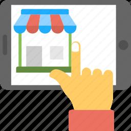 e-commerce, online shop, online shopping, online shopping website, online store icon