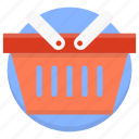basket, buy, cart, online shopping, shop, shopping icon