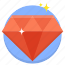diamond, gem, jewel, precious, premium, service icon