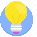 bulb, creative, creativity, idea, light, light bulb icon