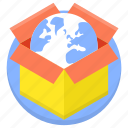 box, logistics, open box, packaging, shopping, transport icon
