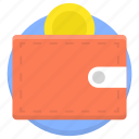 cash, coins, dollar, euro, money, money wallet icon