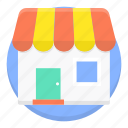 building, commerce, market, marketplace, shop, shopping icon
