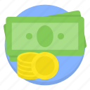 bill, cash, commerce, currency, dollar, finance icon