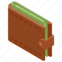 cash wallet, money clip, money protection, money wallet, wallet icon