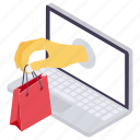 buying online, e commerce, internet buying, online marketing, online shopping icon