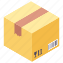 box, cardboard box, courier, package, parcel icon