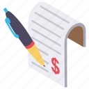 agreement, business contract, contract, legal binding, money agreement icon