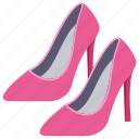 heels, high heel, heel shoes, women shoes, footwear icon
