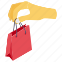 buying, e commerce, purchasing, shopping, shopping bag icon