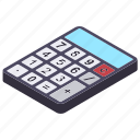 accounting, bookkeeping, calculating tool, calculator, mathematics icon