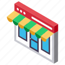 internet market, kiosk, online shop, online store, shopping store icon