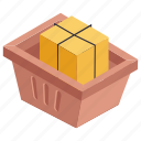 buying present, gift box, gift bucket, gift shopping, shopping icon