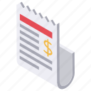contract, financial paper, legal agreement, legal paper, term contract icon