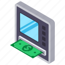 atm machine, card payment, e banking, internet transaction, online banking icon