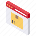 cardboard delivery, delivery service, gift delivery, online delivery, online order icon
