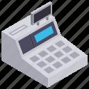 cash register, digital register, electronic register, sale record, till register icon