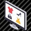 buying online, e commerce, internet buying, online marketing, online shopping icon