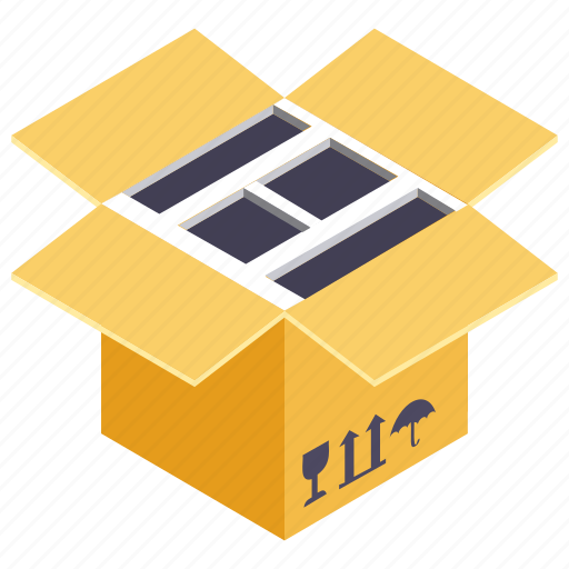 box, gift box, gift container, gift crate, packed gift icon