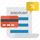 discount card, loyalty program, membership card, special discount, volume discount icon