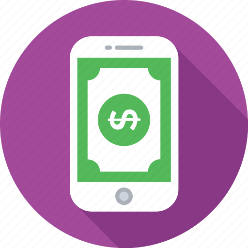 banknote, mcommerce, mobile, mobile banking, smartphone icon
