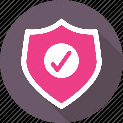 antivirus, defence, protection, shield, tick icon