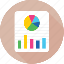 bar graph, business, pie chart, pie graph, report icon