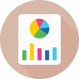 bar graph, business, pie chart, pie graph, report icon