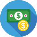 banknote, coin, currency, dollar, money icon