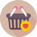 basket, favorite, favorite item, product, shopping basket icon