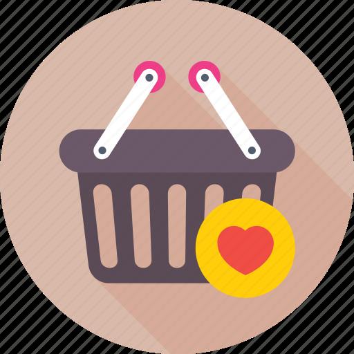 basket, favorite, favorite item, product, shopping basket icon